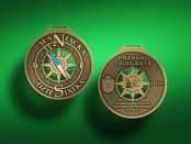 11 Maniacka - medal wizualizacja 80mm po modyfikacji
